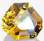 Citrin Gemstone Hexagon